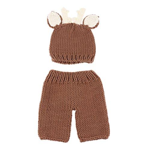 Sharplace Neugeborene Fotografie Kostüm Kreativ Baby Fotoshooting Set - Braun (Kreativ Kleinkind Kostüm)