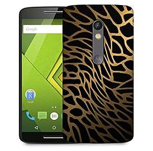 Snoogg Tiger Skin Designer Protective Back Case Cover For Motorola Moto X Play