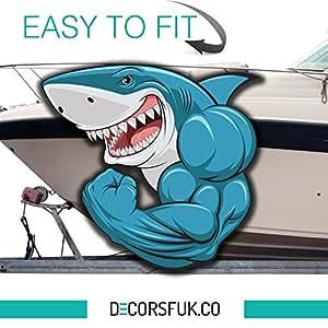 Squalo adesivo per barche barca adesivi barca marine frigorifero finestra auto laptop - Finestre per barche ...
