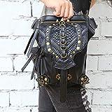 Lisansang Damen Umhängetasche Gothic Steampunk Gürteltasche Oberschenkelholster Taschen Dual-Use Schulter Crossbody Tasche für Damen Umhängetasche, Damenhandtasche