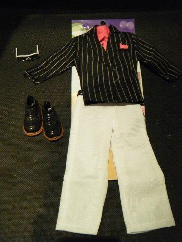 Ken Aktion Mensch Gi Joe Puppenkleidung Ausstattung Stripped Tuxedo Abend Gangster Anzug Outfit Und Schuhe Aus London Geschrieben Von Fett - Katz (Gi Joe Kostüme Für Erwachsene)