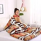 Blankets Multifunktion Faule Quilt Mit Ärmeldecken Herbst Winter Gewaschenes Warmes Bett Sofa150 * 200Cm / 59 * 78.7Inch,E