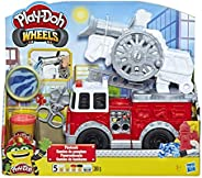 Play-Doh Wheels Fire Truck Toy with 5 Non-Toxic Colours Including Play-Doh Water Compound