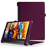 Fintie Lenovo Yoga Tab 3 Plus / Yoga Tablet 3 Pro Hülle - Folio Premium Kunstleder Schutzhülle Tasche Cover mit Standfunktion für Lenovo Yoga Tab 3 Plus / Lenovo Yoga Tablet 3 Pro 25,6 cm (10,1 Zoll) Tablet-PC (Not für Lenovo Yoga Tab 3 10), Lila