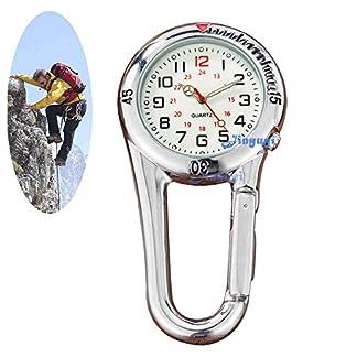 Gorben-Armbanduhr-mit-Karabiner-Quarz-Uhrwerk-Grtelclip-fr-rzte-Krankenschwestern-Sanitter-passt-auf-Rucksack-Umhngetasche-oder-Handtasche
