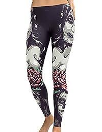 Skinny Pants Ladies Halloween Stretch Pants Women Leggings Gothic Skull  Print Tights Sports Yoga Fitness Jogging dbf7d1265eee