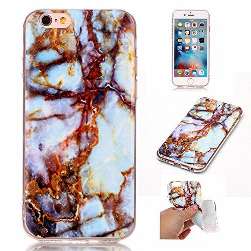 Hosaire 1x Handy Schalen Rückseite Taschen Hülle für Apple iphone 6/6s,Mode Marmor Muster Phone Case Back Cover Farben#7