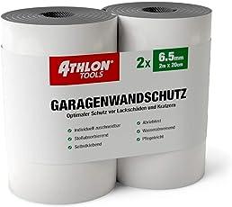 Athlon Tools Premium Garagen-Wandschutz | je 2 m lang | Super Dicker Auto Türkantenschutz | Selbstklebend | Wasserabweisend | 2er Set