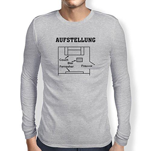 Texlab Herren Aufstellung Wohnzimmer T-Shirt, Grau Meliert, XL (T-shirt Aufstellung)