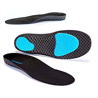 FootSoothers® AirTec Orthotic Insoles Arch-Support For Heel Pain, Plantar Fasciitis, Knee and Backpain, Flat Feet insoles! (XS: UK 2-3.5)