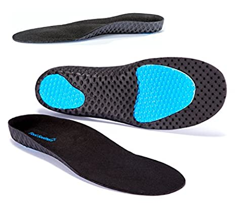 FootSoothers® AirTec Orthotic Insoles Arch-Support For Heel Pain, Plantar Fasciitis,
