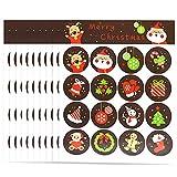 Weihnachtsaufkleber Weihnachten Aufkleber Sticker 320 Aufkleber Etiketten selbstklebend Santa Schneemann Weihnachtsbaum Hirsch Weihnachten Urlaub Festival Geburtstag Hochzeit dekorative Geschenke