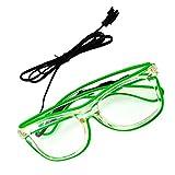 Rosa Schleife LED Leuchten Luminous Brille Erstaunliche Kühle Brillen Glow Eye Fashion Eyewear Maske für Club Bar Disco DJ, Raves Verrückt, Christmas Nachtparty, Kostüme (Grün Licht)