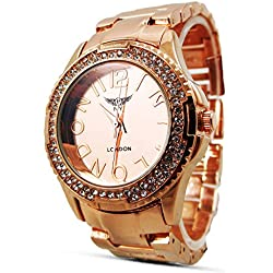 Branded Fashion Unique Mens Womens Unisex Watch at Discounted Sale Price - Silver Strap Crystal Analog Dial Face Quartz