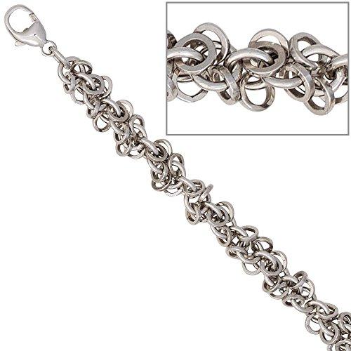 JOBO Fußkettchen Fußkette 925 Sterling Silber rhodiniert 26 cm Karabiner