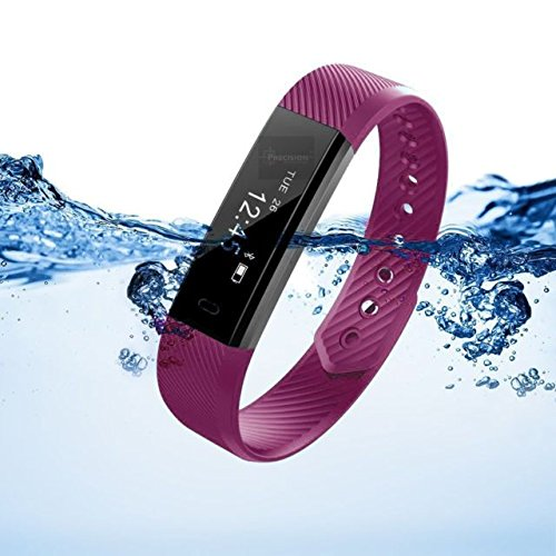 Torus Pro Very Fit Activity Tracker and Fitness Watch with Purple Strap  with Pedometer and Calorie Counter  This Fitbit Styled Sports Accessory is