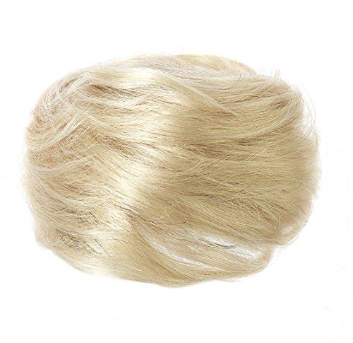 American Dream Luxueux Chignon 100 % Cheveux Humains Couleur 22/60/613 Blonds Mélangés Moyen