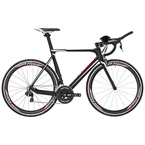 Bergamont Prime RS TRI Carbon Rennrad schwarz/weiß/rot 2017: Größe: 55cm (174-179cm)