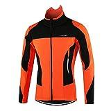 Lixada Vélo Veste Hommes en Plein Air Hiver Thermique Respirant Confortable Manches Longues Manteau...