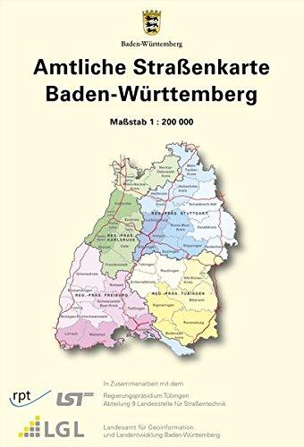 Amtliche Straßenkarte Baden-Württemberg: Straßenkarte 1:200 000 (Straßenkarten)
