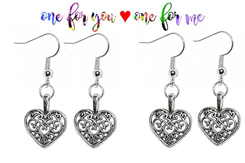 kim-and-kendall-tibetan-silver-earrings-buy-one-get-one-free-rrp-795-filigree-heart