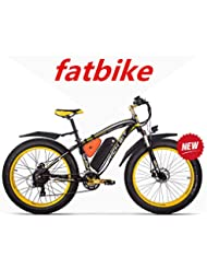 RICH BIT ZDC-022 Bicicleta eléctrica 1000W 48V 17AH para Ciclismo, con Guardabarros,