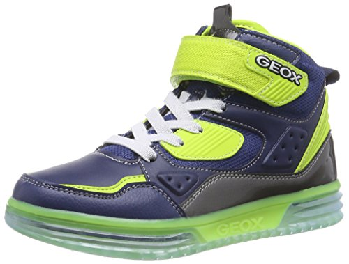 Geox J ARGONAT BOY A - zapatillas deportivas altas de material sintético niños, Azul (c0749), 28