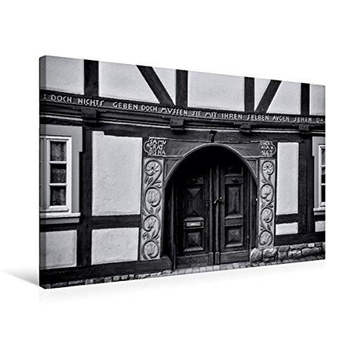 Calvendo Premium Textil-Leinwand 75 cm x 50 cm Quer, Renaissance-Portal Stechbahn | Wandbild, Bild...