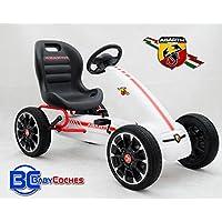 Babycoches Kart Coche de Pedales Fiat Abarth, Ruedas neumaticas, carenado de Proteccion, Freno