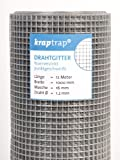 KrapTrap® Volierendraht Drahtgitter 16x16mm Masche 1x12m Schweißgitter 4-eck Drahtzaun