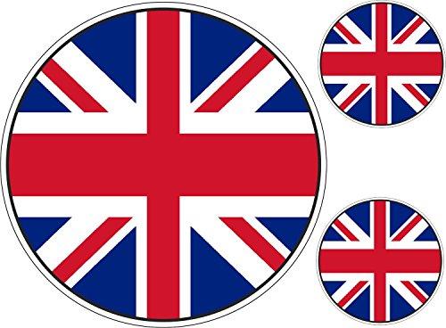 Mini ovale Union Jack Autocollant GB GRANDE CHROME