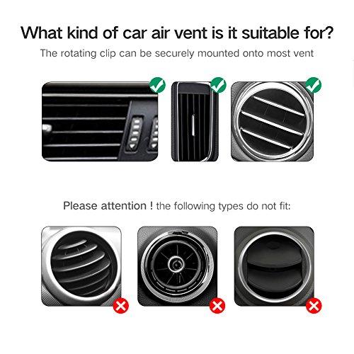 ugreen support t l phone support voiture grille d 39 a ration avec rotation 360 degr s pour. Black Bedroom Furniture Sets. Home Design Ideas