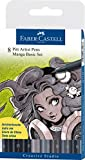 Faber-Castell Manga Wallet Set - 8 x Black/Grey Manga colours