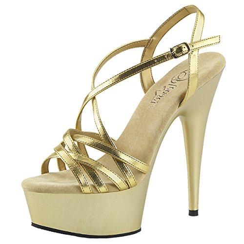 Heels-Perfect , Montants femme Doré