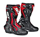 Sidi ST Motorcycle Boot, Black/Red, Size 43,52425-43-105