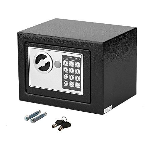 Elektronischer Safe Tresor 4.6L mit Doppelbolzenverriegelung inklusive 4 Batterien (Schwarz)