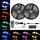 10M Tiras LED RGB 3528 600 Leds, IP65 Impermeable Multicolor Tira LED de Luces...