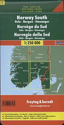 Berndt  Freytag Autokarten, Blatt 1: Norwegen Süd - Oslo - Bergen - Stavanger - Maßstab 1:250 000: Alle Infos bei Amazon