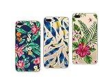 Novago Compatible avec iPhone 7, iPhone 8 4,7''Pack de 3 Coques en Gel Souple Solide Résistant Impression Fantaisie (Multicolore#7)