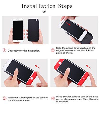 iPhone 5S/SE/5 Coque Protection Souple PC 3 en 1 Full Cover Adamark 360 Housse Integrale Bumper Etui Case Accessoires Ultra Fin Et Discret Pour iPhone iPhone 5S/SE/5 (Bleu) Bleu