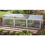 Pergart Frühbeet Gaia 3x, 180 x 50 cm, 3 Dachfenster
