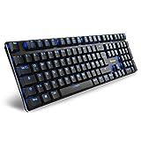 Sharkoon PureWriter Red Mechanische Low Profile-Tastatur (mit flachen Tasten, blauer LED Beleuchtung, Beleuchtungseffekten, abnehmbarem USB Kabel) schwarz