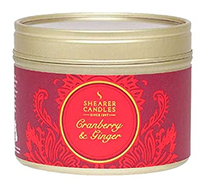 Shearer Candles Cranberry and Ginger Scented Tin Candle, Red from Shearer Candles