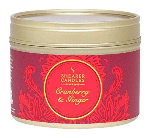 Cranberry-ingwer (Shearer Candles Cranberry und Ingwer Duft Zinn Kerze, rot)
