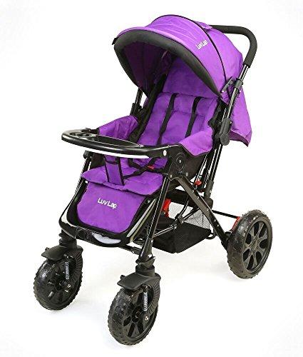LuvLap Baby Stroller Pram Elegant Purple