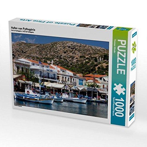 Preisvergleich Produktbild Hafen von Pythagório 1000 Teile Puzzle quer (CALVENDO Orte)