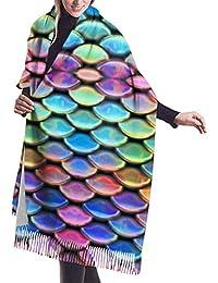Seiobax Mermaid 1 Mujer Niñas Bufandas ligeras Invierno/Otoño Pashmina Wrap Chal