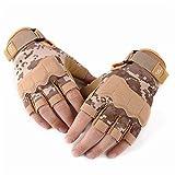 Aundiz Fingerlos Handschuhe Mikrofaser Gummiband Fitness Rutschfest Radfahren Handschuhe Sandgelbe Tarnung Xl Handshuhe für Herren