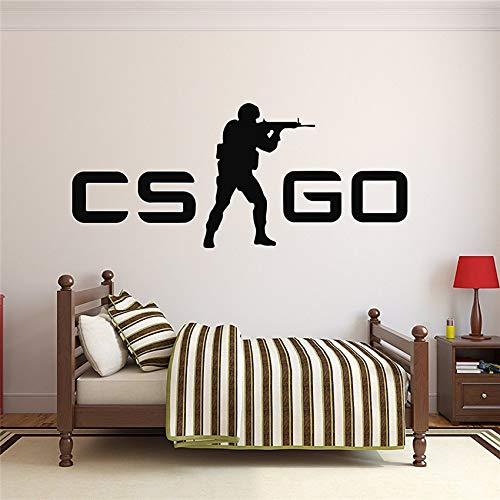 Crjzty Counter-Strike Go CS GO Logo Wandaufkleber Spiel Emblem Vinyl Art Mural Sticker 120 * 58cm