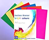 Dalton Manor Lot de 120 feuilles de papier 6 couleurs assorties Format A4 80g/m²